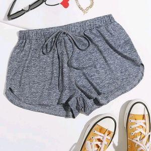 Knot Waist Marled Shorts
